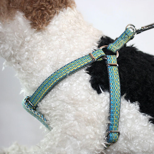 Haight Ashberry Re-purposed dog harness - Blueberry Small