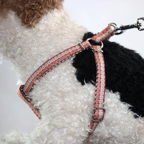 Haight Ashberry Re-purposed dog harness -Salmonberry Small