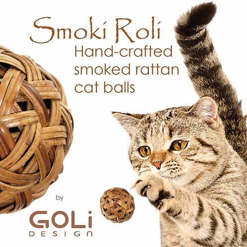 Smoki Roli balls - a set of 2 rattan balls