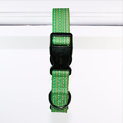 Haight Ashberry Re-purposed & Reflective Dog Collar - Large Kiwiberry