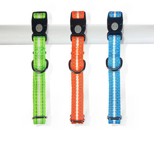 BellaLuna Glow in the Dark & reflective dog collars - Medium