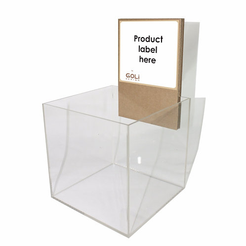 Large acrylic box counter top display