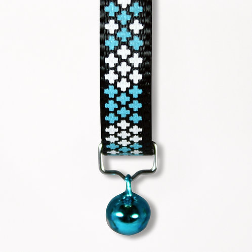 Cross Cat Collar - Blue