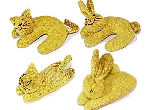 Yellow color Nip-naps and Curly 4 piece set
