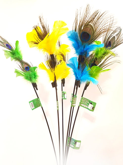 Purrfect Peacock Feather cat toy - brand new