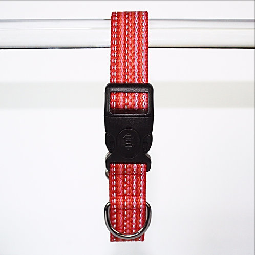 Haight Ashberry Re-purposed & Reflective Dog Collar - Large Strawberry