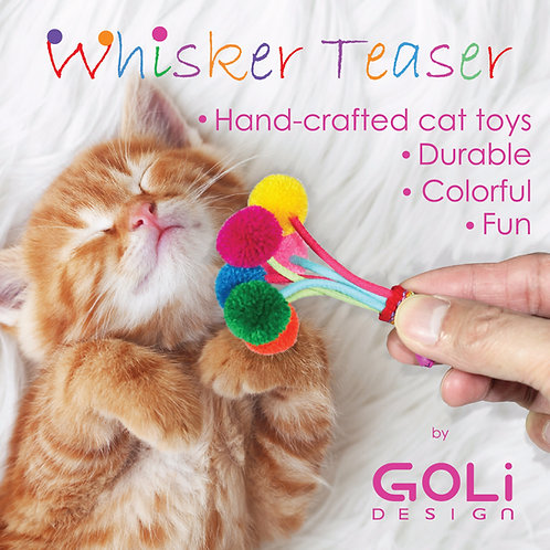 Whisker Teaser Cat Toy - Catnip Infused