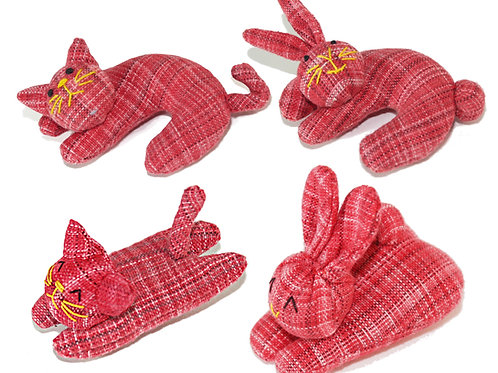 Red color  Nip-naps and Curly - 4 piece set