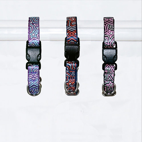 Star Gazer Reflective Dog Collar - Extra-Small. NOW ON SALE