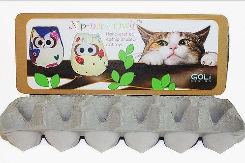 Egg Carton display for Owli Cat toys