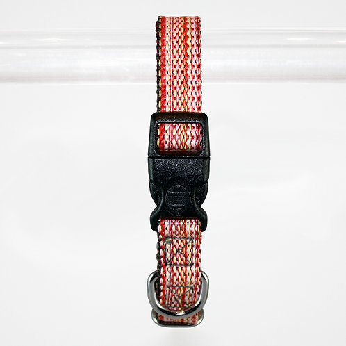 Haight Ashberry Re-purposed Dog Collar - Medium  Salmonberry