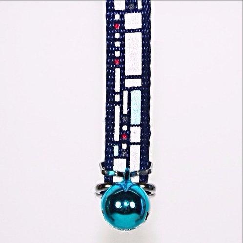 Catwalk Boogie Woogie Reflective Cat collar - Blue