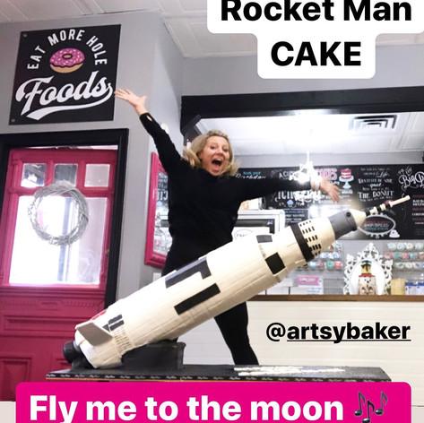 Rocket Man Cake