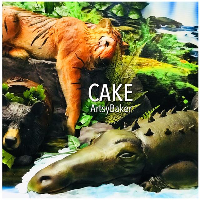 Tiger and Crocodile Cake