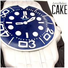 stylish watch cake