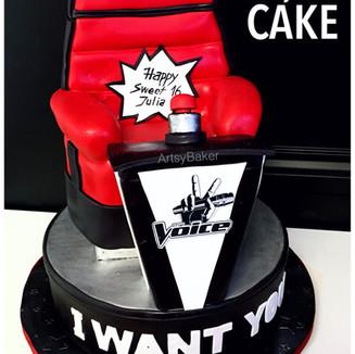 The Voice Cake