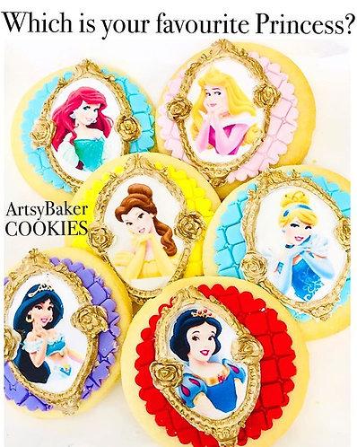 6pk Princess Cookies