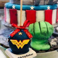 Wonder Woman Candy Apple