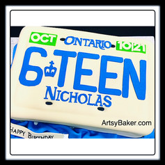 16 year old driving cake