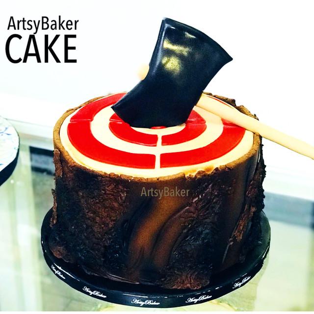 Axe Throwing Cake