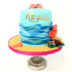 Cute beach cake