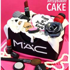 Pretty makeup cake
