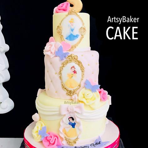 Disney Prinsess cake