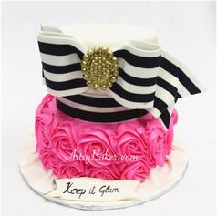 Chic girls dress cake