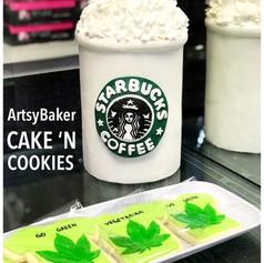 Starbucks cake and cannabis cookies