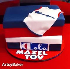 Champion Bar Mitzvah cake