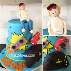 Teenager intrests cake
