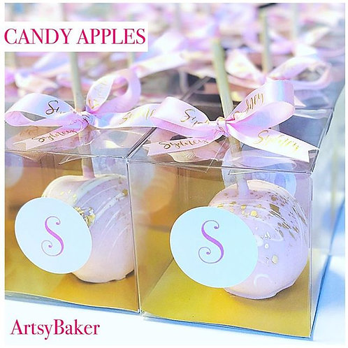 Golden Pink Candy Apples