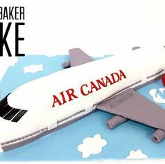 Air Canada Airplane Cake