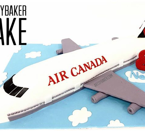 Air Canada Airplane Cake