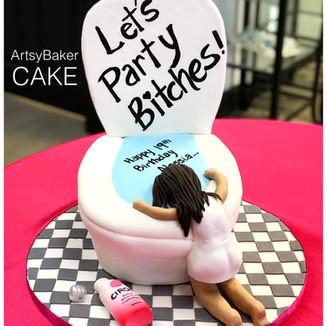 Drunk Female Cake