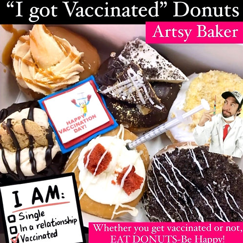 """I GOT VACCINATED"" Donuts"