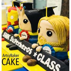 Avengers Graduation Cake