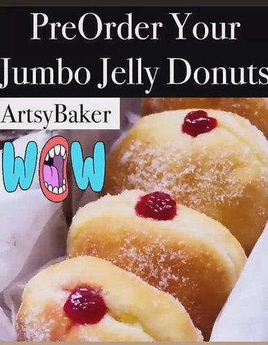 Jumbo Jelly Donuts - Sufganiyot