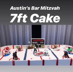 Austin's Bar  7FT HOCKEY CAKE