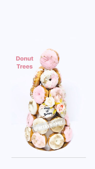 Pink Gold Donut Tree