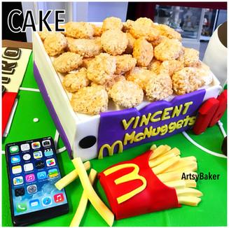 McDonalds and iPhone Cake
