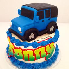 Blue Jeep cake