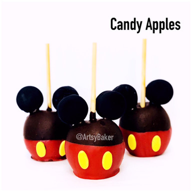 Mickey Mouse Candy Apples