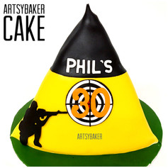 shooting range cake