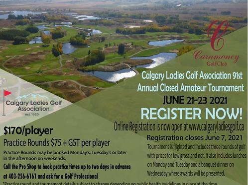 2021 Calgary City Ladies Closed Amateur