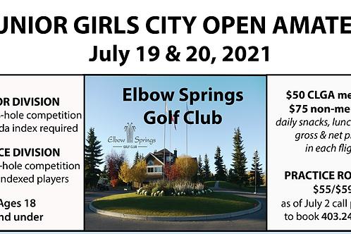 2021 Calgary City Junior Girls Open Amateur