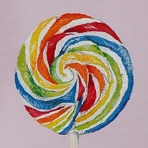 Rainbow lolly
