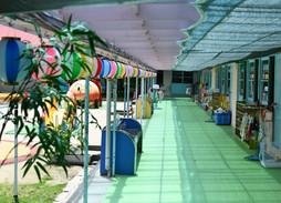 360°カメラの幼稚園の風景
