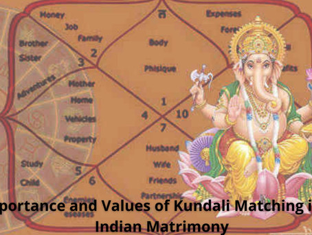 Importance and Values of Kundali Matching in an Indian Matrimony