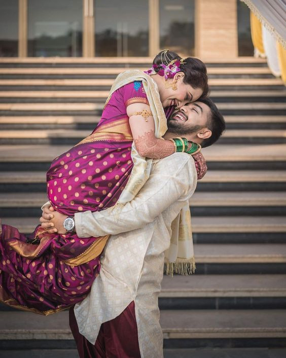 Adorable and Charming Marathi Wedding Couple Portraits That We Utterly Love